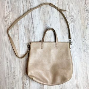 Madewell mini zip transport tote